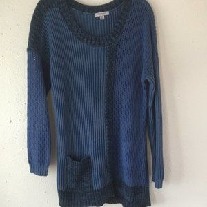 PBJ Sport Blue Contrasting Knit Long Sweat…
